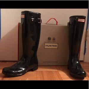 Hunter Boots Women's Original Tour Glossy Style